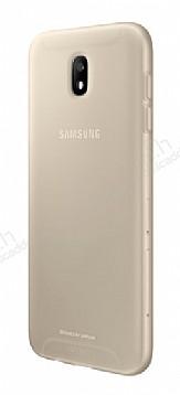Samsung Jelly Cover Galaxy J7 Pro 2017 Orjinal Şeffaf Gold Silikon Kılıf