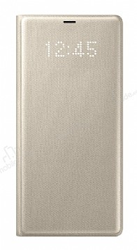 Samsung Galaxy Note 8 Orjinal Led View Cover Gold Kılıf