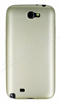 Samsung N7100 Galaxy Note 2 Mat Gold Silikon Kılıf