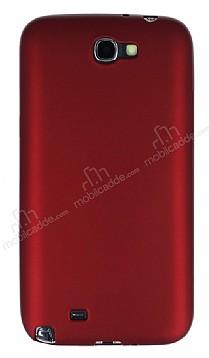 Samsung N7100 Galaxy Note 2 Mat Kırmızı Silikon Kılıf