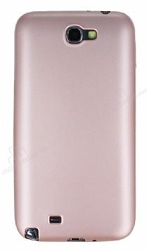 Samsung N7100 Galaxy Note 2 Mat Rose Gold Silikon Kılıf