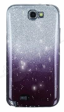 Samsung N7100 Galaxy Note 2 Simli Siyah Silikon Kılıf
