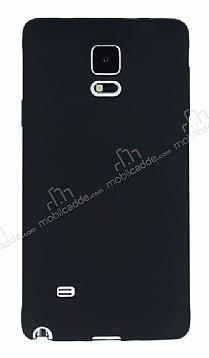 Samsung N9100 Galaxy Note 4 Mat Siyah Silikon Kılıf