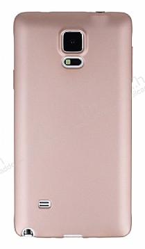 Samsung N9100 Galaxy Note 4 Mat Rose Gold Silikon Kılıf