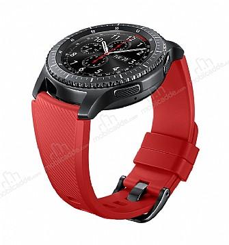 Samsung Orijinal Silikon Gear S3 Kırmızı Kayış ET-YSU76MREGWW