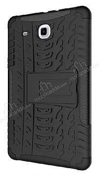 Samsung T560 Galaxy Tab E Ultra Süper Koruma Standlı Siyah Kılıf