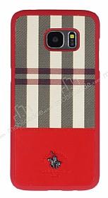 Santa Barbara Plaide Samsung Galaxy S7 Edge Kırmızı Rubber Kılıf