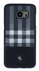 Santa Barbara Plaide Samsung Galaxy S7 Edge Siyah Rubber Kılıf