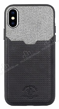 Santa Barbara Tasche Series iPhone X Kartlıklı Siyah Kılıf
