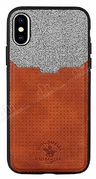 Santa Barbara Tasche Series iPhone X / XS Kartlıklı Kahverengi Kılıf