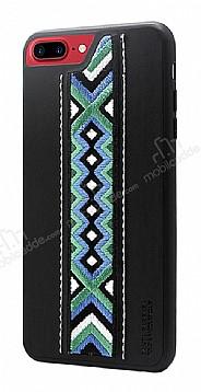 Santa Barbara Totern iPhone 7 Plus / 8 Plus Siyah Deri Rubber Kılıf