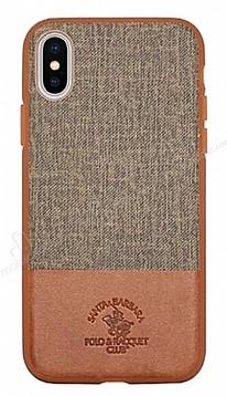 Santa Barbara Virtuoso iPhone X Deri Kahverengi Rubber Kılıf