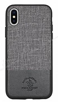 Santa Barbara Virtuoso iPhone X Deri Siyah Rubber Kılıf