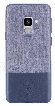 Santa Barbara Virtuoso Samsung Galaxy S9 Deri Lacivert Rubber Kılıf