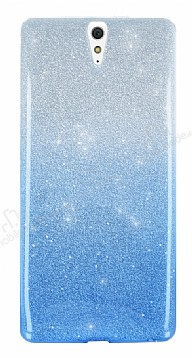 Sony Xperia C5 Ultra Simli Mavi Silikon Kılıf