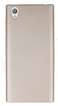Sony Xperia L1 Tam Kenar Koruma Gold Rubber Kılıf