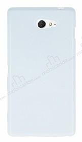 Sony Xperia M2 Beyaz Silikon Kılıf