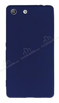 Sony Xperia M5 Mat Lacivert Silikon Kılıf