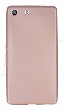 Sony Xperia M5 Mat Rose Gold Silikon Kılıf