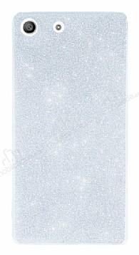 Sony Xperia M5 Simli Silver Silikon Kılıf
