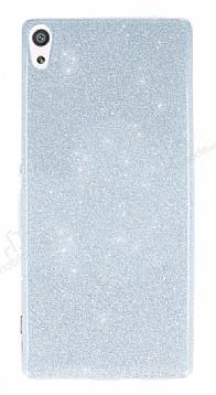 Sony Xperia XA Simli Silver Silikon Kılıf