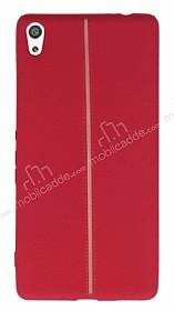 Sony Xperia XA Ultra Kadife Dokulu Kırmızı Silikon Kılıf