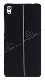 Sony Xperia XA Ultra Kadife Dokulu Siyah Silikon Kılıf