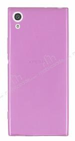 Sony Xperia XA1 Süper İnce Şeffaf Pembe Silikon Kılıf