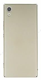 Sony Xperia XA1 Tam Kenar Koruma Gold Rubber Kılıf