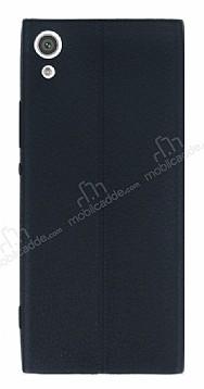 Sony Xperia XA1 Ultra Deri Desenli Ultra İnce Siyah Silikon Kılıf