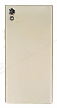 Sony Xperia XA1 Ultra Mat Gold Silikon Kılıf