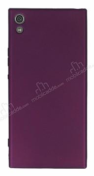 Sony Xperia XA1 Ultra Mat Mor Silikon Kılıf