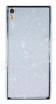 Sony Xperia XA1 Ultra Simli Silver Silikon Kılıf