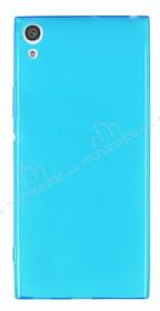 Sony Xperia XA1 Ultra Süper İnce Şeffaf Mavi Silikon Kılıf