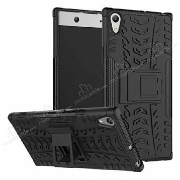 Sony Xperia XA1 Ultra Süper Koruma Standlı Siyah Kılıf