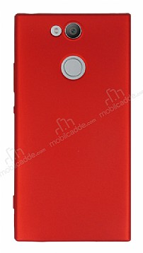 Sony Xperia XA2 Mat Kırmızı Silikon Kılıf
