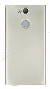 Sony Xperia XA2 Mat Gold Silikon Kılıf