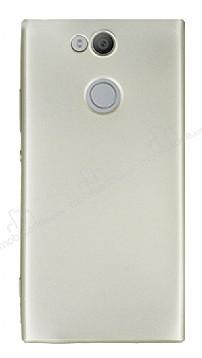 Sony Xperia XA2 Ultra Mat Gold Silikon Kılıf