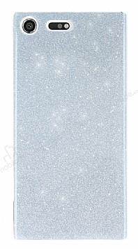 Sony Xperia XZ Premium Simli Silver Silikon Kılıf