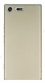 Sony Xperia XZ Premium Tam Kenar Koruma Gold Rubber Kılıf