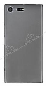 Sony Xperia XZ Premium Ultra İnce Şeffaf Siyah Silikon Kılıf
