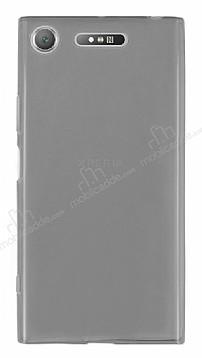 Sony Xperia XZ1 Süper İnce Şeffaf Siyah Silikon Kılıf