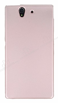 Sony Xperia Z Mat Rose Gold Silikon Kılıf