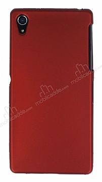 Sony Xperia Z2 Mat Kırmızı Silikon Kılıf