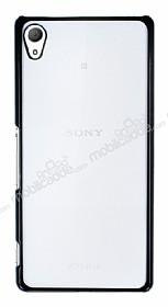 Eiroo Breza Sony Xperia Z3 Plus Siyah Metal Kenarlı Şeffaf Rubber Kılıf