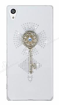 Sony Xperia Z5 Premium Anahtar Taşlı Şeffaf Rubber Kılıf