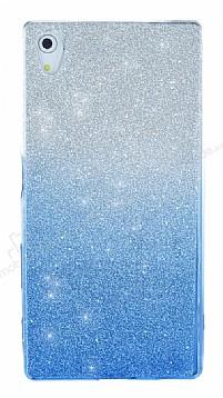 Sony Xperia Z5 Simli Mavi Silikon Kılıf
