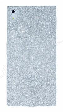 Sony Xperia Z5 Simli Silver Silikon Kılıf