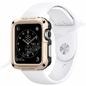 Spigen Apple Watch / Watch 2 Tough Armor Ultra Koruma Gold Kılıf (42 mm)