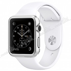 Spigen Apple Watch Thin Fit Satin Silver Kılıf (38 mm)